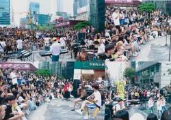 더이스트라이트, 강남역 달군 버스킹 성료..청소년 행복 프로젝트 시작