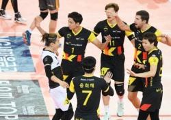[V리그] '우리가 돌아왔다' OK저축은행, 한국전력 잡고 첫 승!