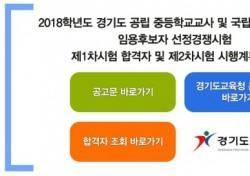 경기도교육청 임용고시 1차 결과 발표…'경쟁률↓' 배경은?