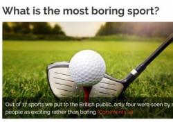 """영국인 70% """"골프 TV시청이 지루하다"""""""