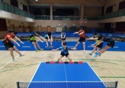 [스포츠 사진 한 장] 탁구선수들의 장풍과 컬링
