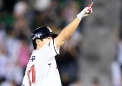 [프로야구] '박건우 끝내기 홈런 + 불펜 무실점 합작' 두산. 90승 달성