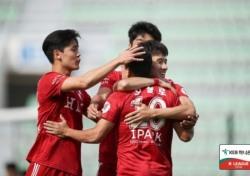 [K리그2] '3위로 상승', 부산 3-1로 서울E에게 승리