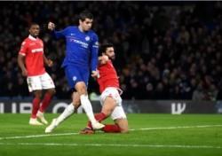 [잉글랜드 FA컵] 2골 넣은 모라타, 여전히 웃지 못했다