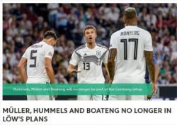 독일 대표팀 세대교체 가속화..뮐러·보아텡·훔멜스 제외