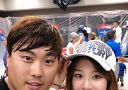 '남편 향한 달달한 응원' 배지현, 류현진 완봉승에는 어떤 반응 보일까
