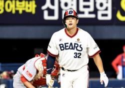 반발력 감소 효과? 김재환, 20홈런도 위태