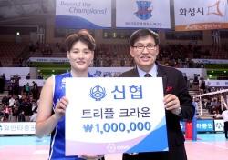 [V리그] 라이트 김희진, '트리플 크라운'이 갖는 의미