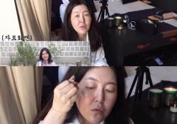 엠퀴리, 민낯 공개한 한혜연…세럼 바르는 순둥이 슈스스