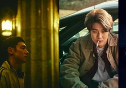 '사냥의 시간' 이제훈·안재홍·최우식·박정민, 사냥 직전 포착된 강렬한 표정