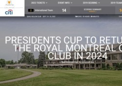 2024년 프레지던츠컵 캐나다 로열몬트리올서 개최