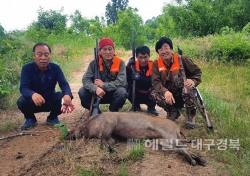 의성군, 동절기 유해야생동물 피해방지단 운영...오는 3월까지