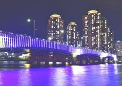 포항 연일대교에 180m LED미디어 조명 반짝 반짝...야간명소로 각광