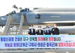 '하늘길 동맹' 경북 4개 자치단체장, 군위서 특별 좌담회 개최