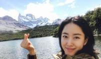 전혜빈, 설산 앞에서 '♥'