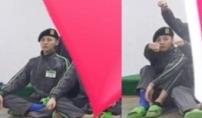 훈련병 지드래곤, 발목 보호대 착용 포착
