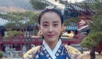 박은혜, 이번엔 중전 마마?…푸른색 한복에 금 비녀...