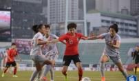 유럽파 빠진 女축구, 강호 중국과 비겨
