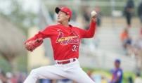 세인트루이스 김광현, MLB 첫 시범경기 'KK쇼'