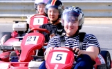 Feel wind and chills on a go-kart
