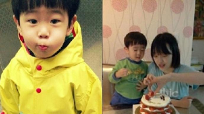 설리 남동생 공개, '생일 케이크 나눠먹...