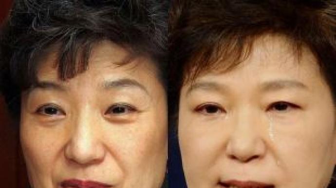 """박 대통령 12년간 얼굴 변천사 """"주름살 ..."""