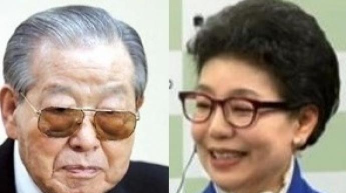 """김종필, 우연히 만난 박근령에 """"자주 연..."""