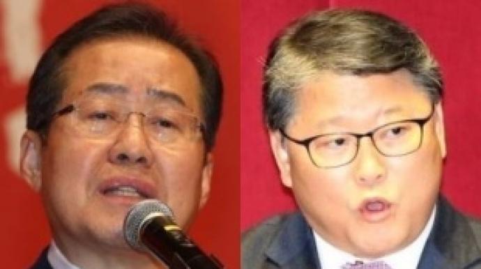 """박사모 모인 새누리당 내홍…""""홍준표로 단..."""