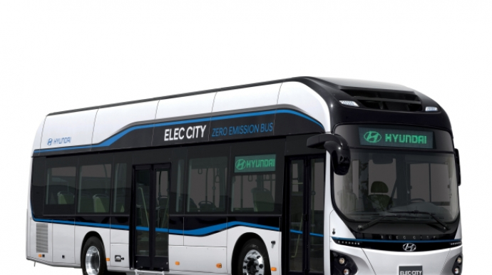 Hyundai unveils first commercialized electric bus, to launch in 2018