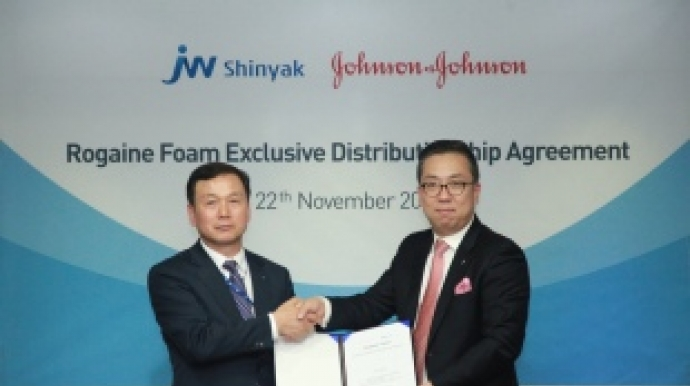 JW Shinyak bags license to sell J&J's hair loss treatment in Korea