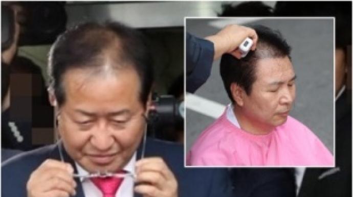 """한국당 삭발 사죄…""""홍준표·김무성 정계..."""