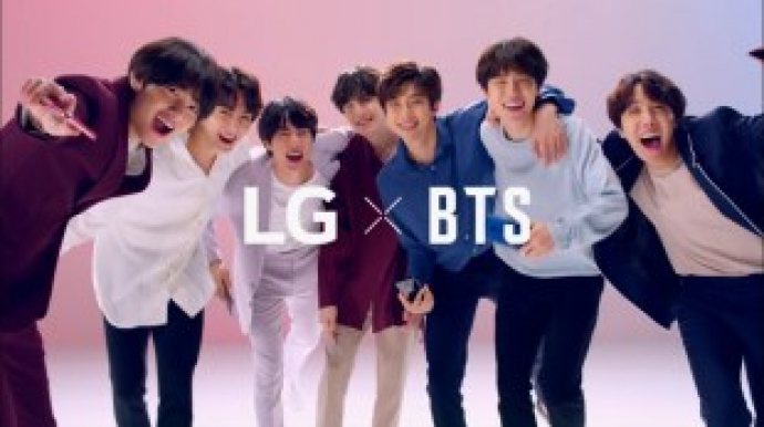 LG collaborates with BTS to promote latest products overseas