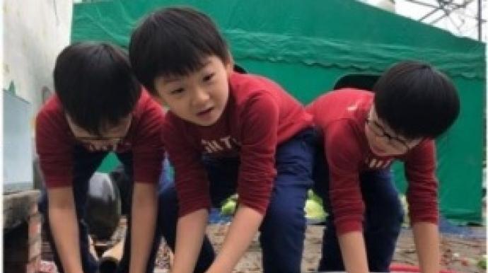 송일국, 삼둥이 근황 공개 '의젓'