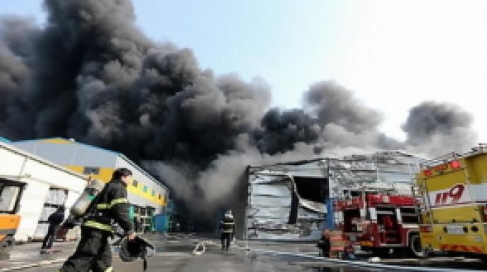구미 공단 화재 확산…주변 공장으로 번져...