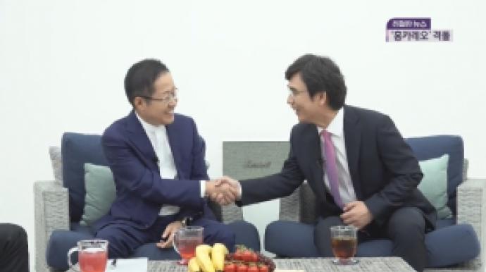 홍준표 vs 유시민 '3차 설전'…이번엔 ...