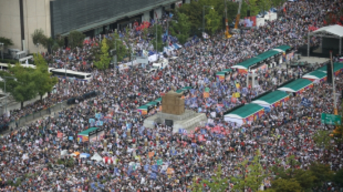 [단독] 서울시 2만·한국당 300만 말했지...
