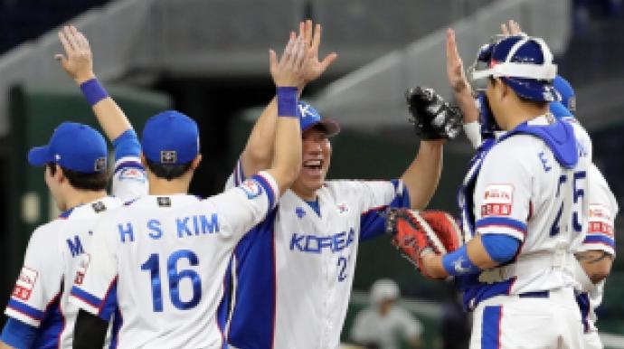 韓야구, 멕시코 7-3 제압…12년 만에 올림...