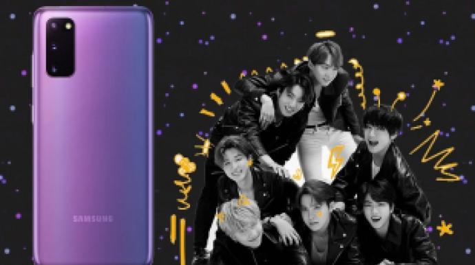 [단독] 출시 예고 '갤럭시 BTS폰' 실체...