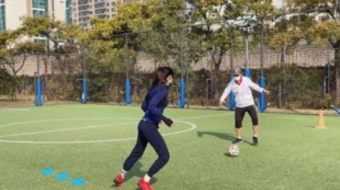 '골때녀' 한채아, 시아버지 차범근 축구...