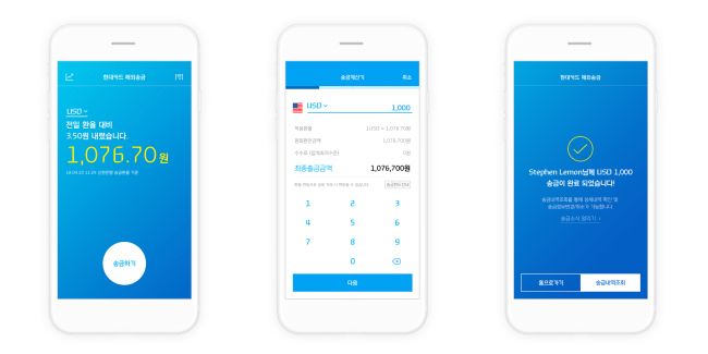 Hyundai cards new app cuts overseas money transfer costs hyundai card holders wont have to open new accounts or install authentication certificates they can use their ids passwords and bank accounts linked to reheart Gallery