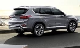 Hyundai showcases Santa Fe SUV with fingerprint access in China