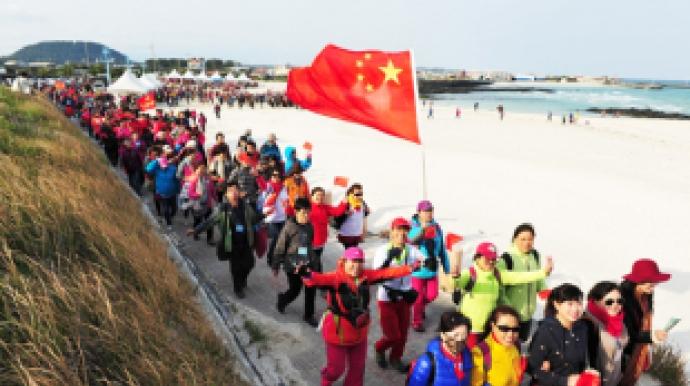 Chinese group tourists return to Jeju