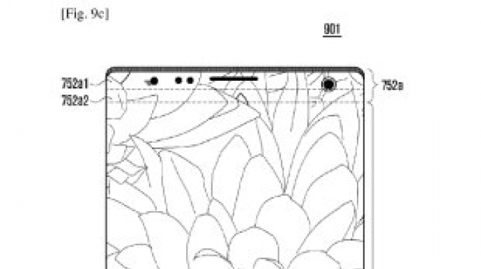 Samsung's patent shows holes in display for larger screen space