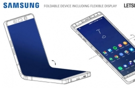 Newest rendering of Samsung's upcoming foldable phone