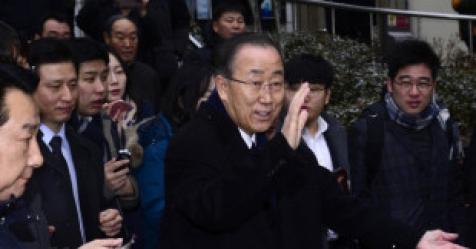 """반기문, 위안부 묻는 기자에 '발끈'…""""나쁜 X들이다"""""""