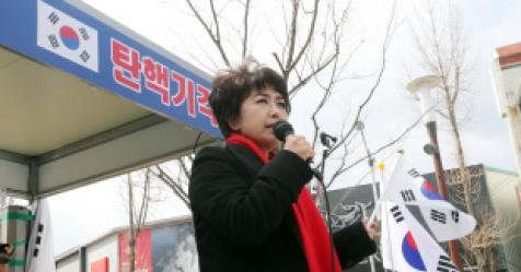 """극우 정미홍 """"세월호 천막 불도저로…"""" 발언 논란"""
