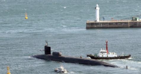 美 핵잠수함 미시간호 부산기지 출항…단독작전 개시