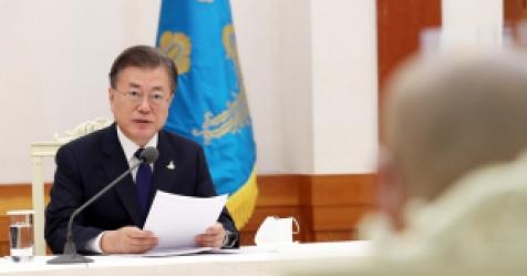 """문대통령 """"평양 공동선언 2주년…만남·대화 희망 포기 않..."""