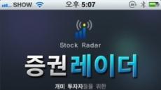 증권투자전문 어플, '증권레이더' 출시…실시간 시황 분석