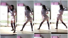 한지우, 카라 '엉덩이춤'에 도전장